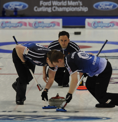 Victoria B.C.April 5,2013.Ford Men's World Curling Championship.Scotland skip David Murdoch,Michael Goodfellow,Scott Andrews.CCA/michael burns photo | by seasonofchampions