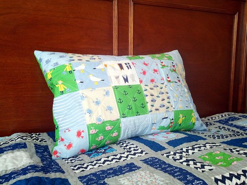 Whales and Sails Pillow | by mihertz