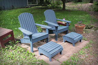 Painted Muskoka Chairs and Footstools | by rgdaniel