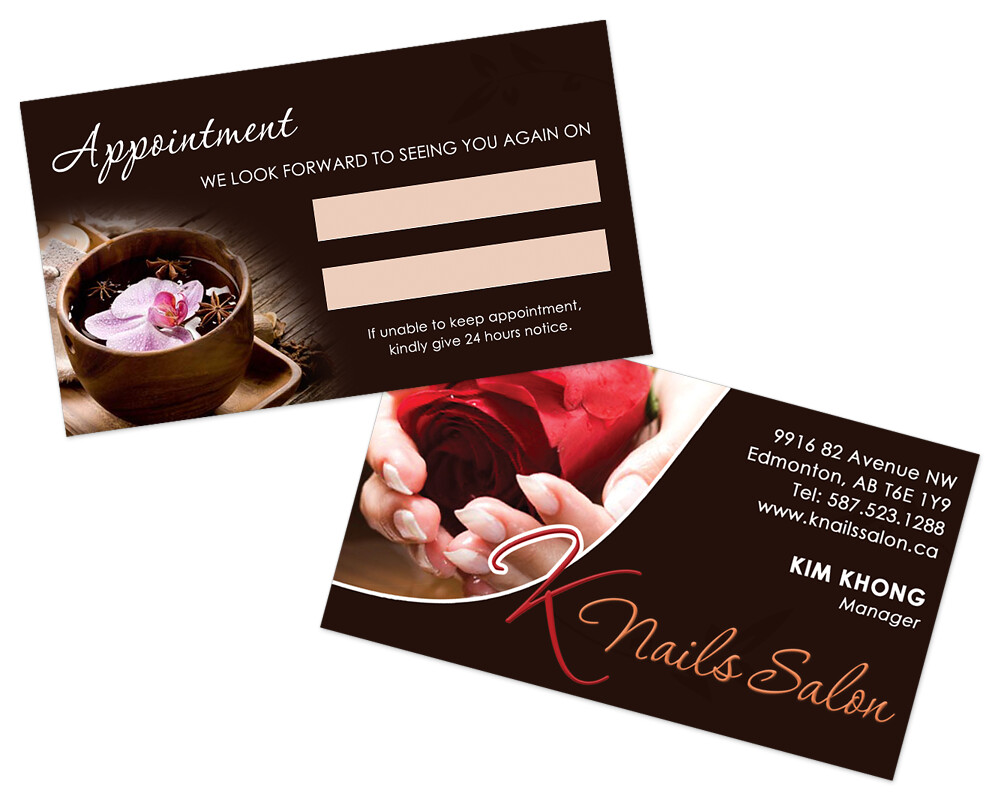 K Nails Salon - Business Card | Designed a two-sided busines… | Flickr