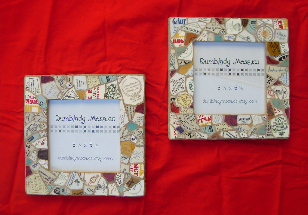 Mosaic Frames - SOLD   Made these awhile back. Finally got a…   Flickr