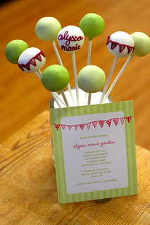 Custom Bridal Shower Cake Pops to Match Invitation | by Sweet Lauren Cakes