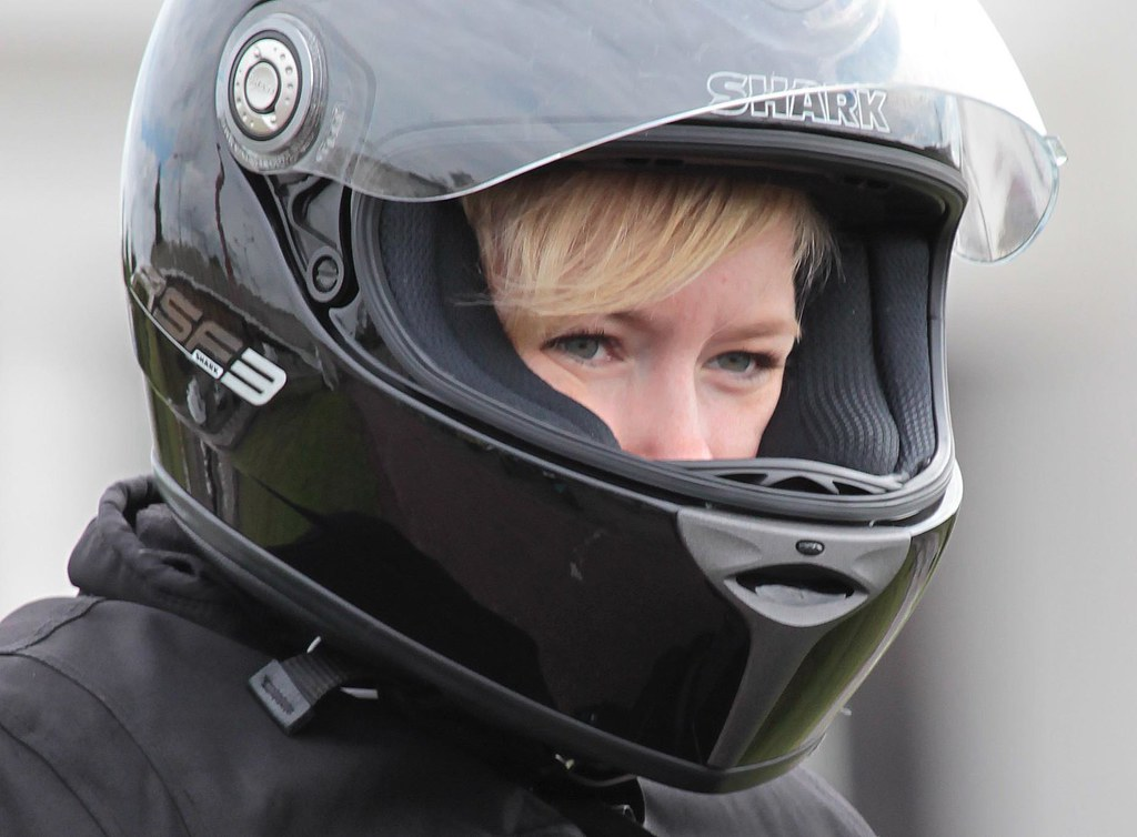 Motorcycle Woman Wearing Helmet Anja Schmidt Flickr