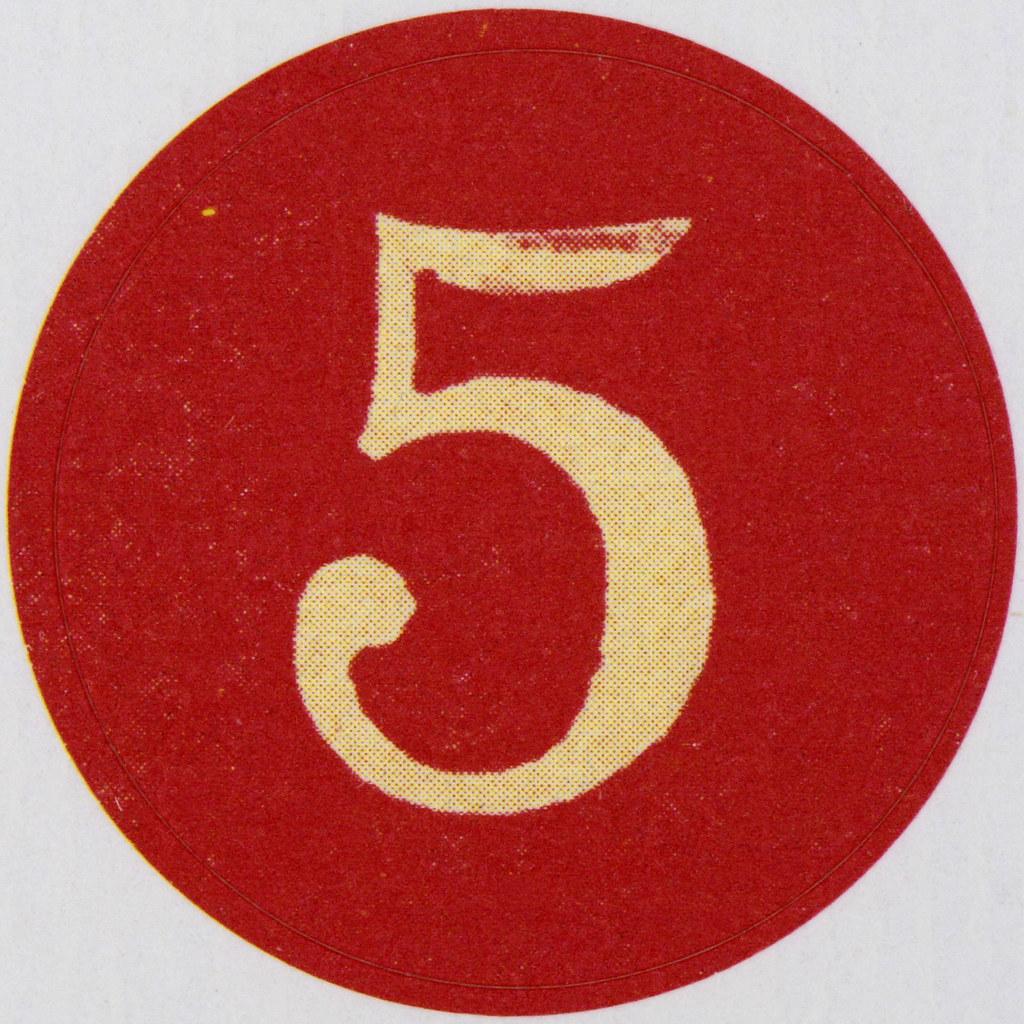 Vintage Sticker number 5   Leo Reynolds   Flickr
