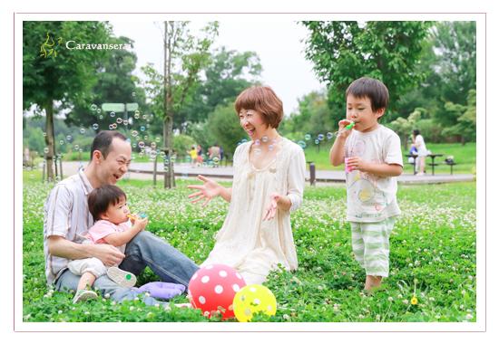 家族・親子写真撮影会 フラワーパーク江南 愛知県江南市 屋外ロケーション撮影 花 緑 川遊び 出張撮影