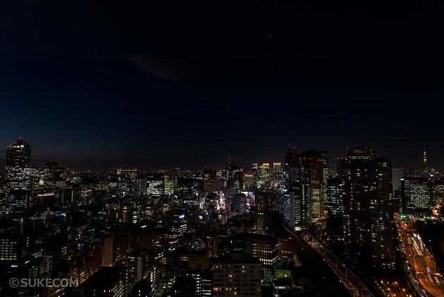 貿易センタービル展望台の夜景