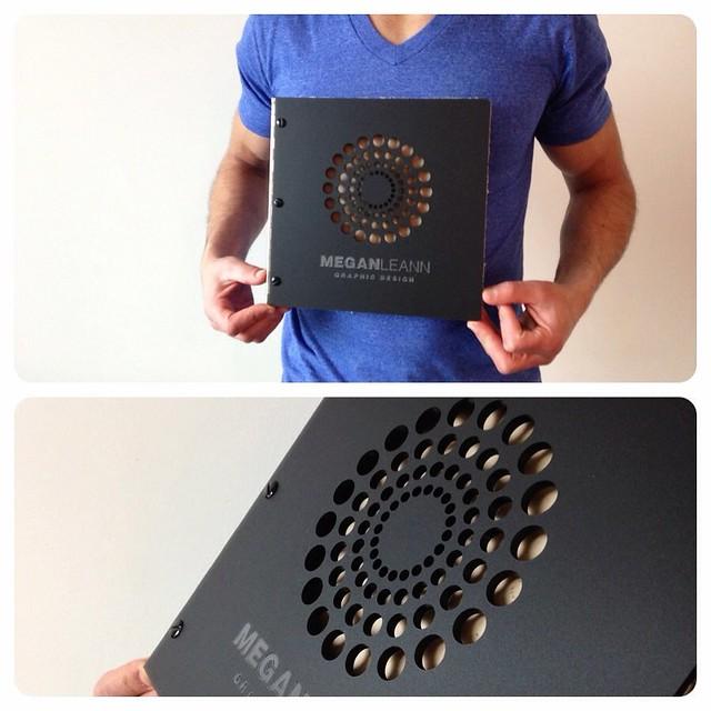 Die Cut Book Cover Design ~ Custom small square graphic design portfolio book in matte