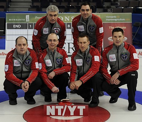 Northwest Territories/YukonYellowknife CCSkip: Jamie KoeThird: Tom NauglerSecond: Brad ChorostkowskiLead: Robert BordenFifth: Kevin WhiteheadCoach: Terry Shea | by seasonofchampions