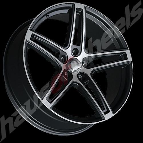 RF 5 Wheel Matte Black Flat Machined Satin 20 Inch 20x85