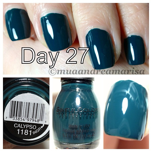 sinful colors calypso day 27 of 31 days of green nail polish march - Vernis Sinful Colors