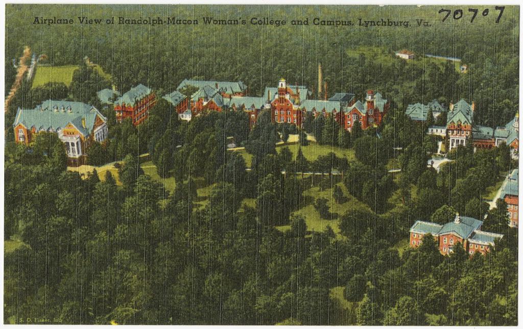 Lynchburg College Va Campus Map. Lynchburg. USA Map Images