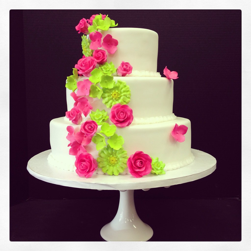 pink and lime green wedding cakes pink amp lime green wedding cake a design brought to me by 18551