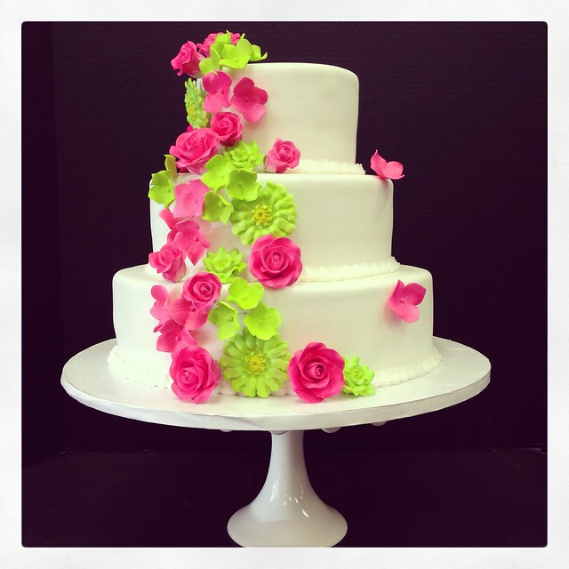 lime green and hot pink wedding cakes pink amp lime green wedding cake flickr photo 16896