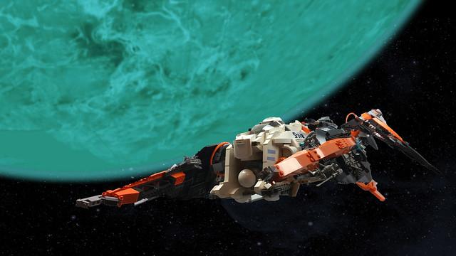 Shiva class quark bomber in space