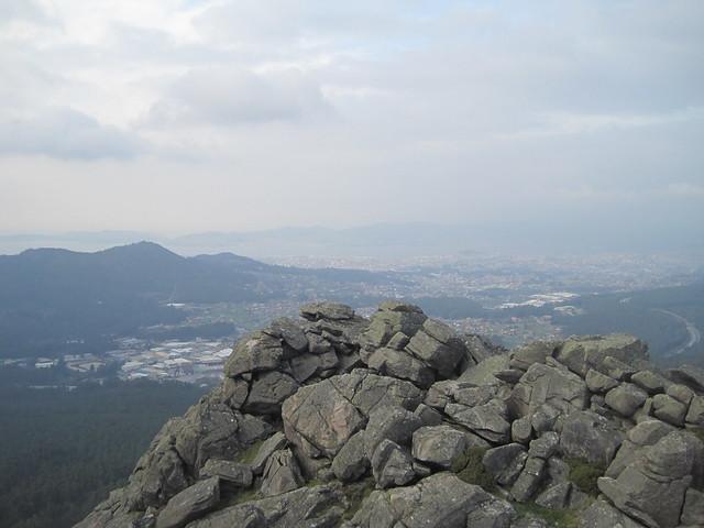Vistas desde la Cima del Galiñeiro en Vigo