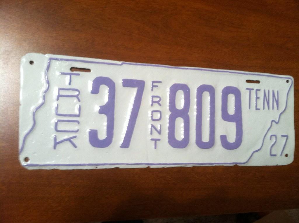 1927 Tennessee truck license plate | 2003-mach-1 | Flickr