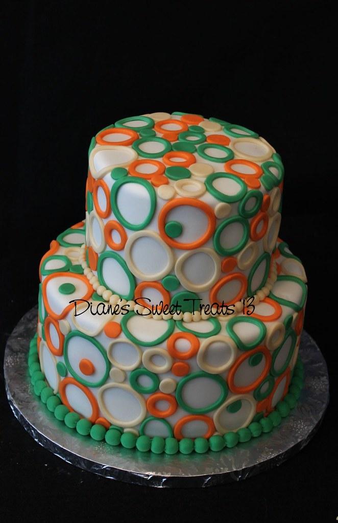 Cutout Circles Modern Birthday Cake My Customer Sent Me Flickr