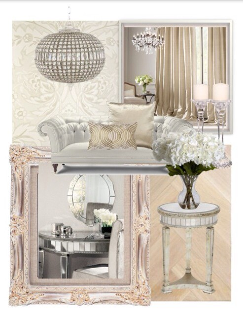 White oyster silver living room pearlescent off white - White and silver living room ...