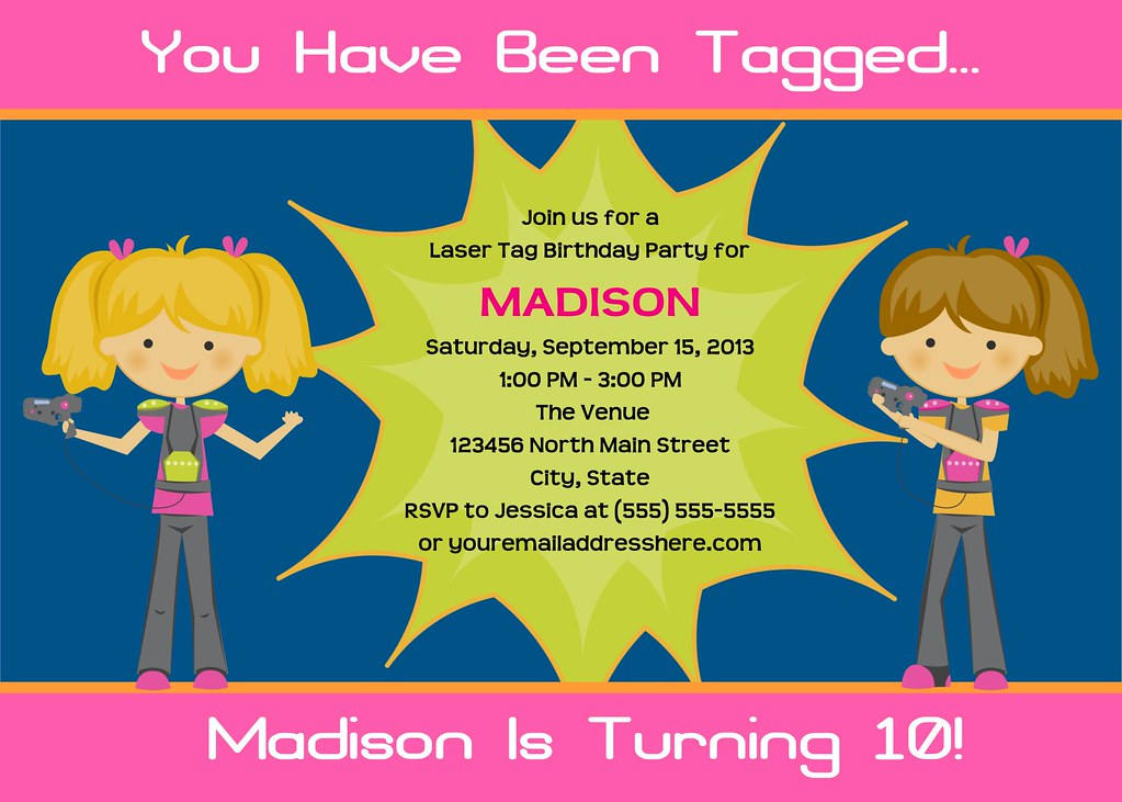 Printable Laser Tag Birthday Party Invitation | I have many … | Flickr