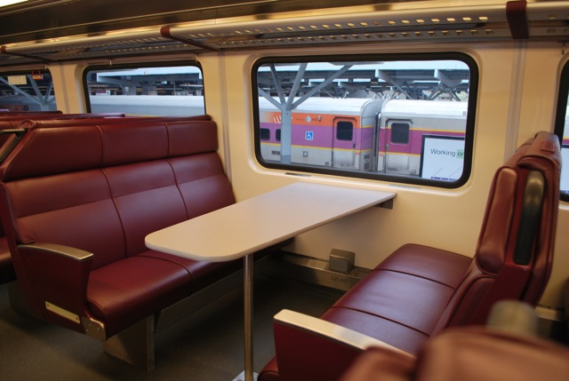 mbta new commuter rail coaches  april 25  2013