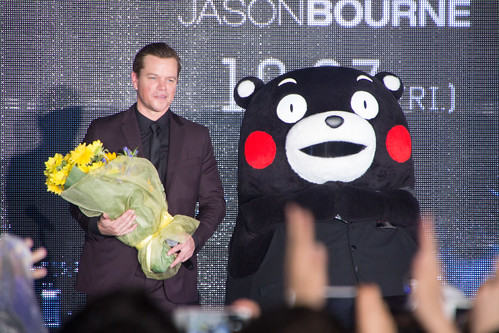 Jason Bourne Japan Premiere: Matt Damon & Kumamon