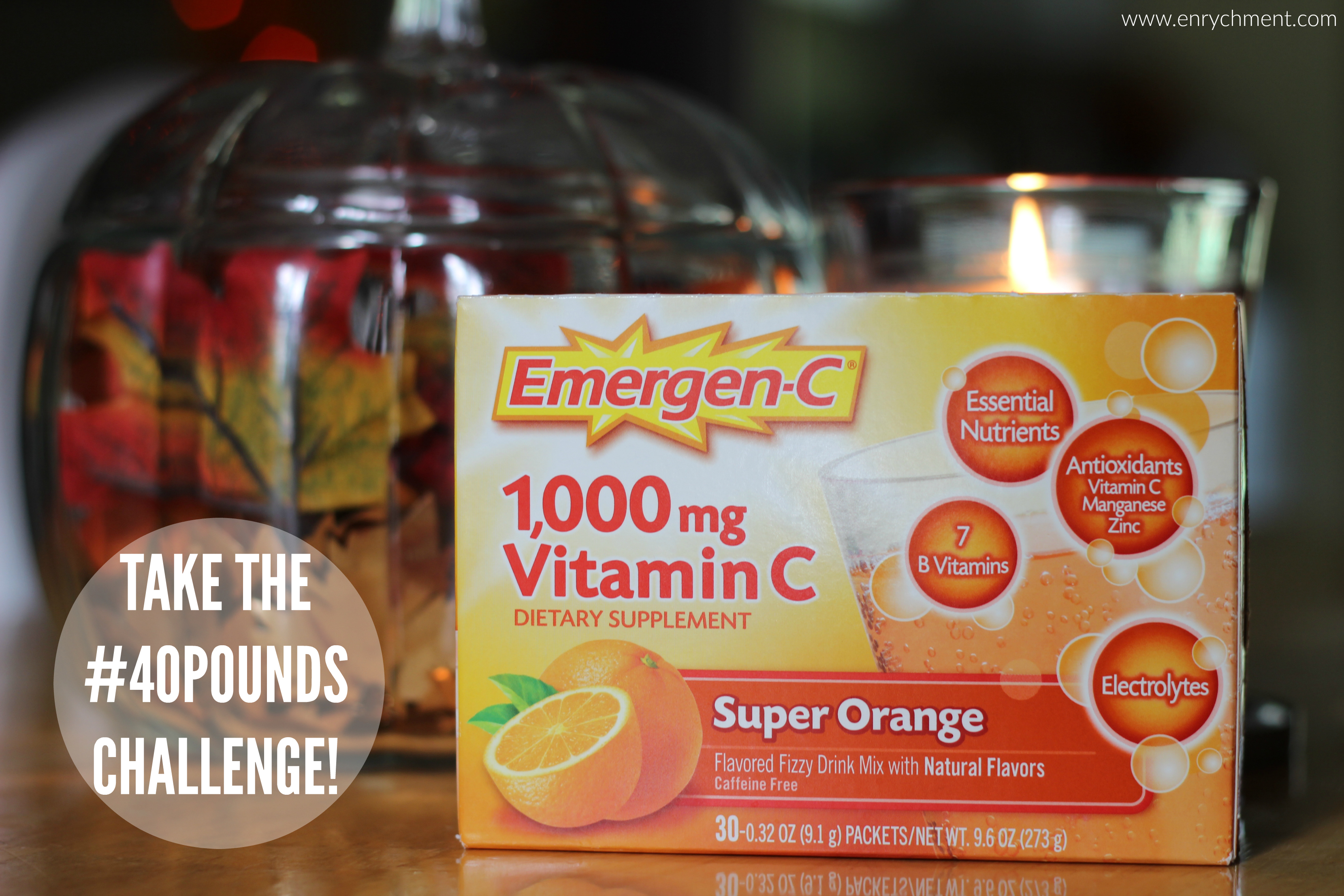 Take the #40pounds challenge with Emergen-C