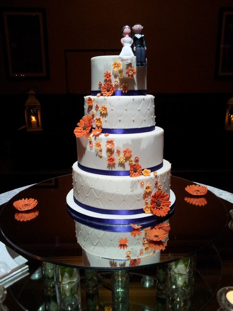 orange and purple wedding cake ideas purple and orange wedding cake my second wedding cake 18038