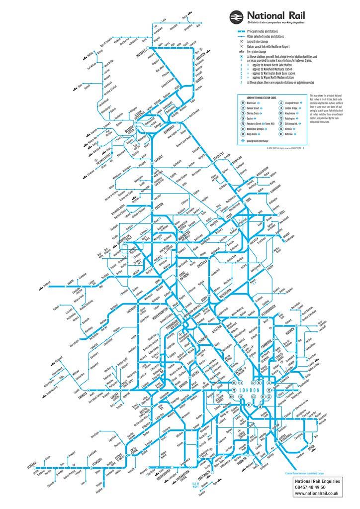 UK Official National Rail map large 2013 | UK Official Natio… | Flickr