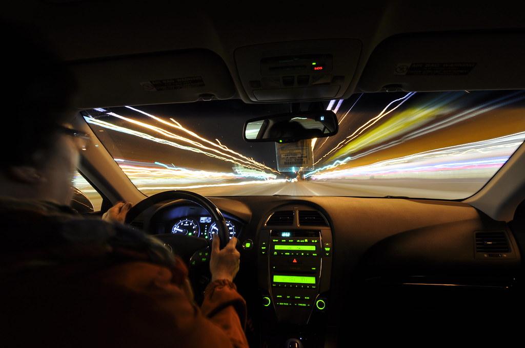 Inside The Car Light Trails For You Star Trek Fans