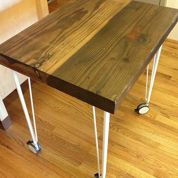 and the reclaimed wood kitchen table on ikea hairpin l flickr. Black Bedroom Furniture Sets. Home Design Ideas