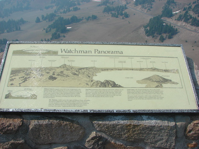 Interpretive sign on The Watchman