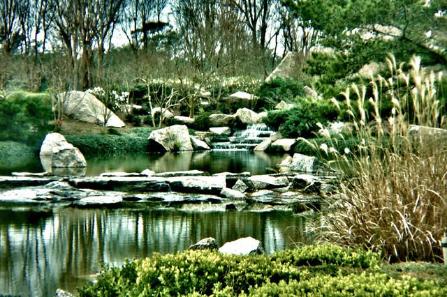 Hermann Park Japanese Garden Hdr With A Holga Lens