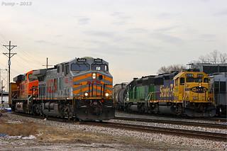 KCS and BNSF Train Pass at Kansas City, MO | Headed out of ...
