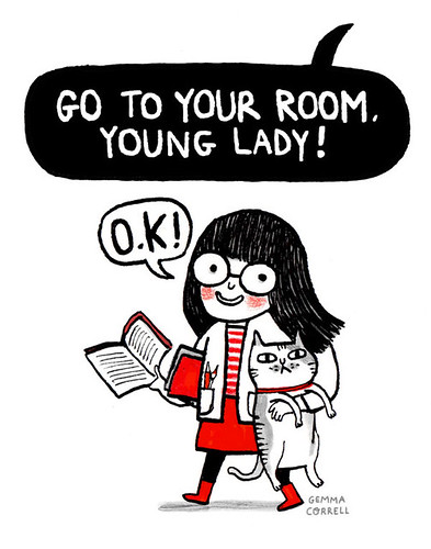 portrait of the artist as a young girl | by gemma correll