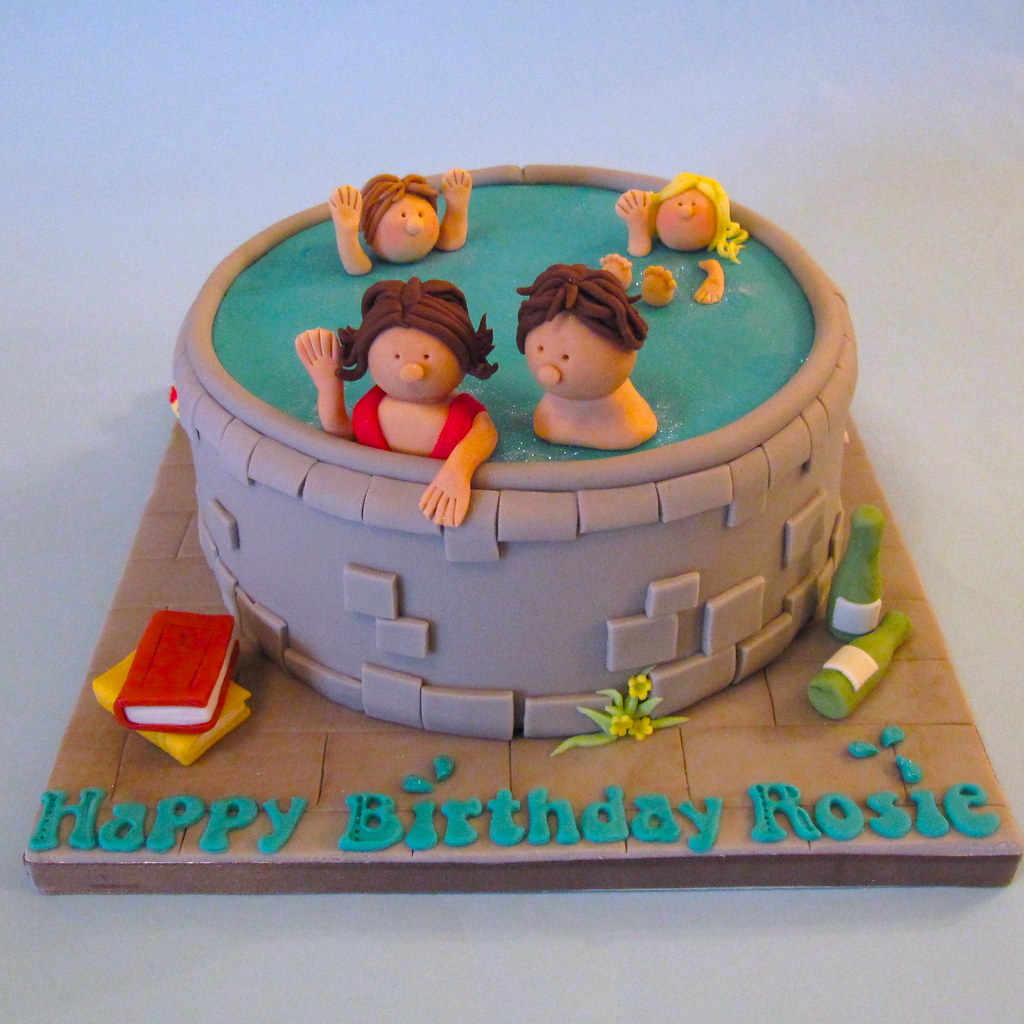 Swimming Pool Cake A Swimming Pool Themed Birthday Cake Fo Flickr