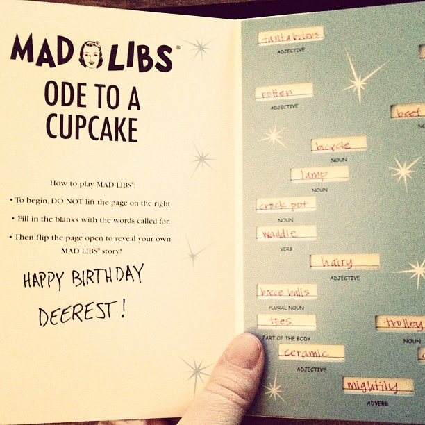 Madlibs Birthday Card My Husband Knows Me So Well Flickr