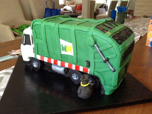 Garbage Truck Birthday Cake Flickr Photo Sharing