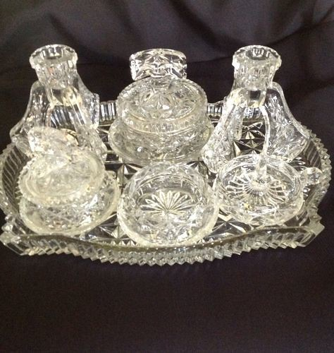 My Vintage glass dressing table set | I bought this off Ebay… | Flickr