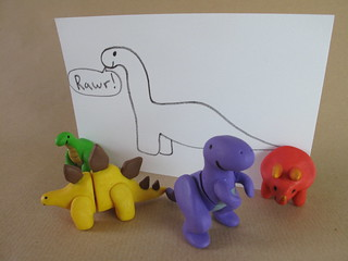 The complete set of fimo magnet dinosaurs | by lilspikey