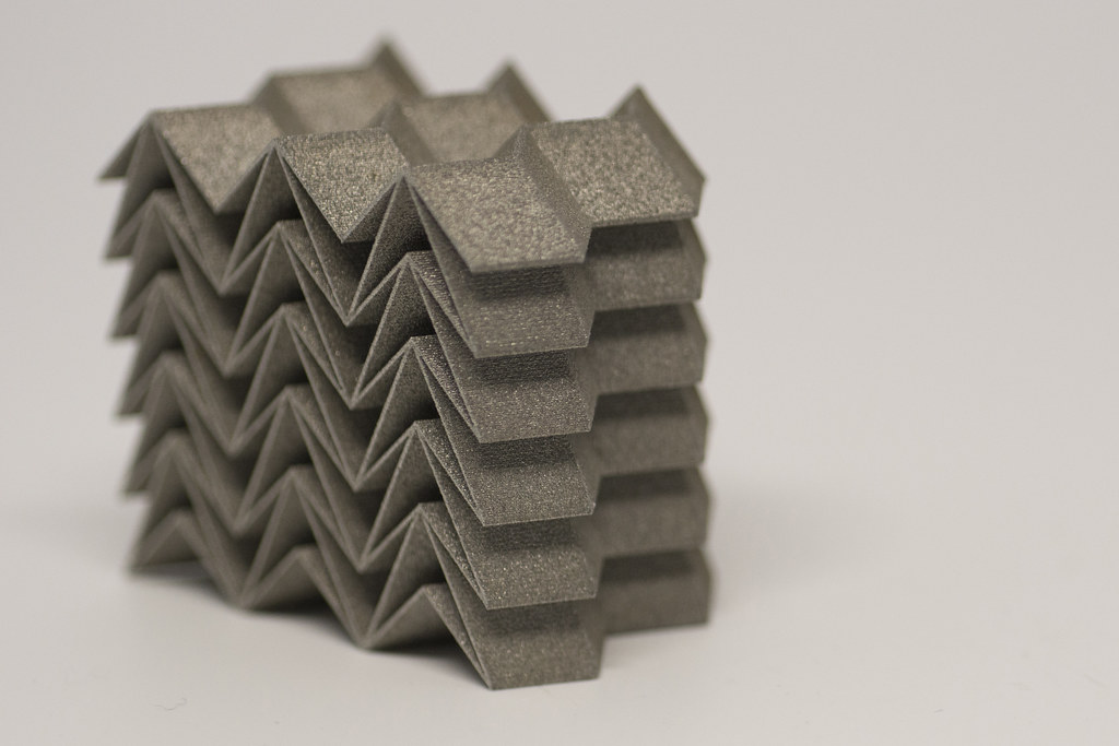 Jonathan Harris 3d Printed Steel Origami This Origami Ins Flickr