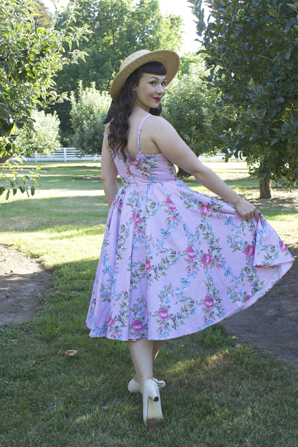 floral ribbon ella dress pinup girl