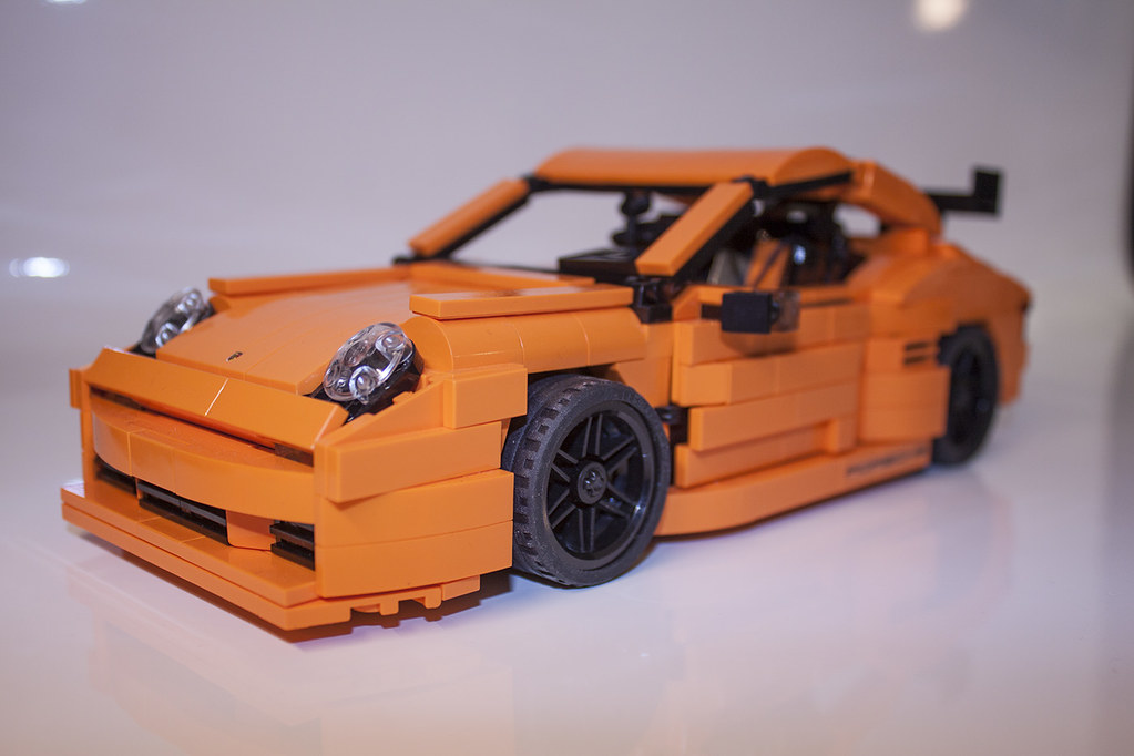 lego porsche 911 carrera gt3 rs orange custom car lego po. Black Bedroom Furniture Sets. Home Design Ideas