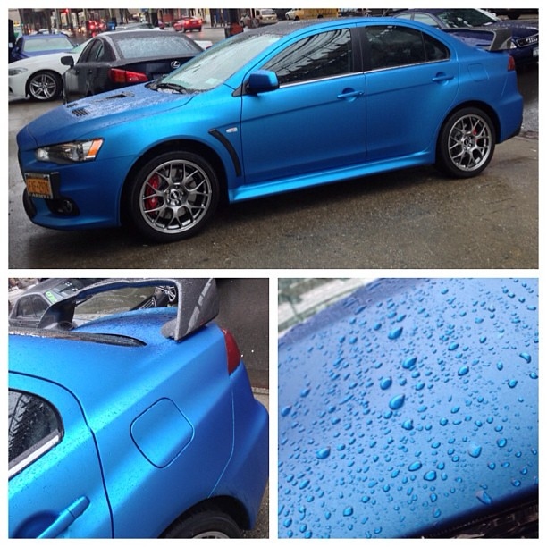 Our first official wrap. 2013 Evo X in 3M matte blue. Phot… | Flickr