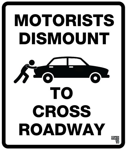 Motorists Dismount | by Mikael Colville-Andersen