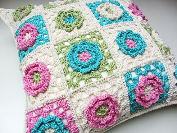 Crochet Flower Cushion 1 Catherine Maidens Flickr