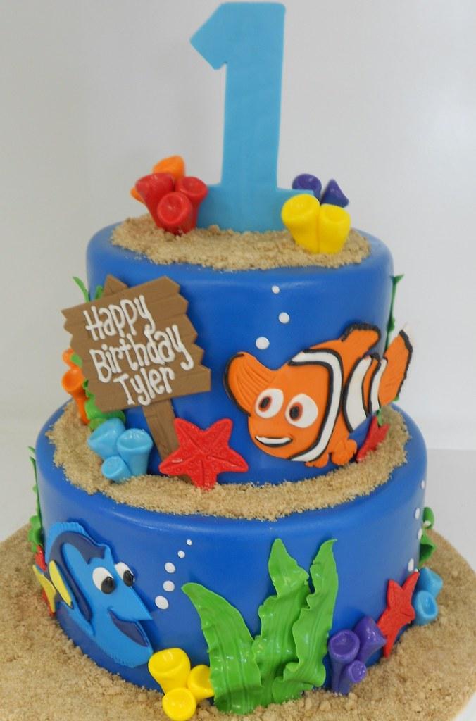 Finding Nemo Birthday Cake 1663 Asweetdesignfo 81 Flickr