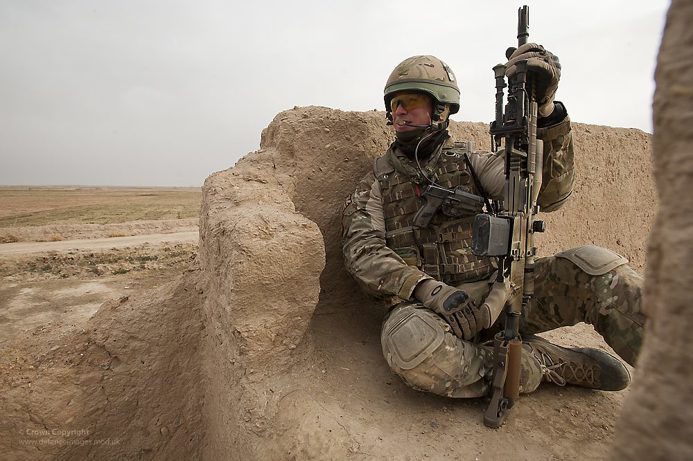Soldier Observing From A Compound Roof In Afghanistan Flickr