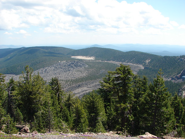 Big Obsidian Flow and the Pumice Flat from Paulina Peak