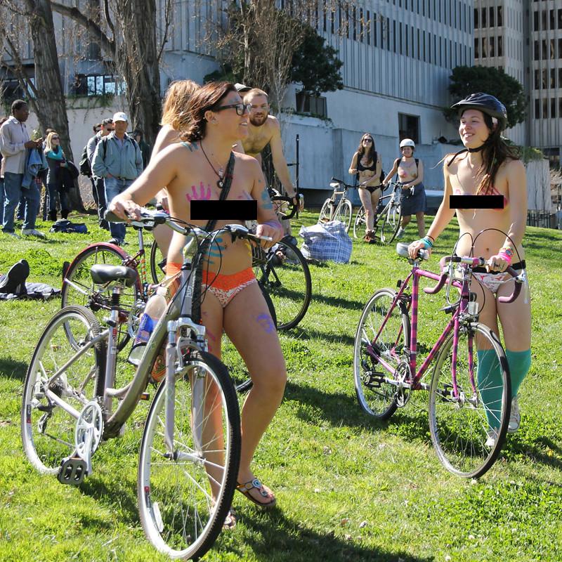 Bike exercise nude teen