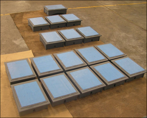 Custom Designed Ptfe Slide Plate And Pipe Shoe Assemblies